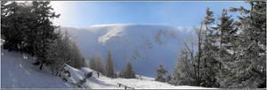 Small Lake kettle winter pano by gshegosh
