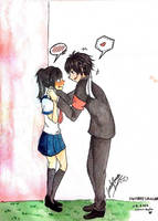 Wanna kiss? by LovelySwine
