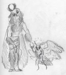 Angel Moth and Moth Angel by Goshawk-Gyrefalcon