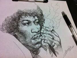 Jimi Hendrix by motoichi69