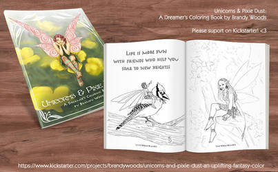 Unicorns and Pixie Dust - A Coloring Book Project by BrandyWoods