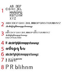 Collage of Nameless Fonts by desouza-ramiro