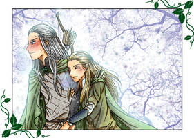 X'mas 2016 - Haldir and Legolas by Windrelyn