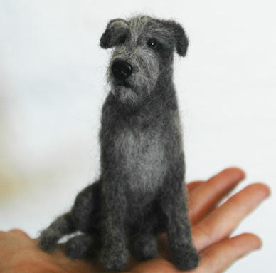 Needle Felted Irish Wolfhound By Amber Rose Creations On Deviantart