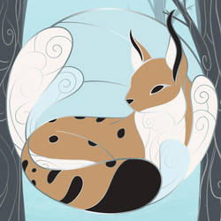 The Lynx - Winter: Tranquil Forest Animals Pins by evybenita