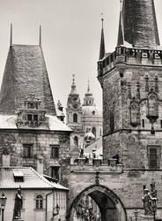 Wintry Prague by Borymir