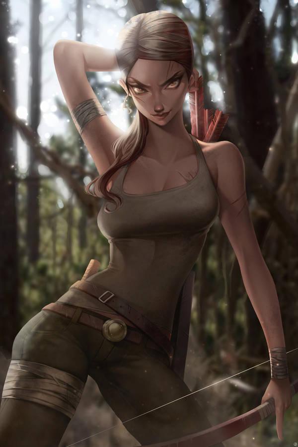 Lara Croft by JELLYEMILY