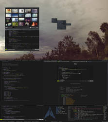ArchBang desktop - Minimalistic dark openbox by kjeksomanen