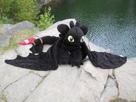 Toothless plush by HedaMiu