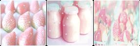 strawberry milk aesthetic | f2u by purr-tea