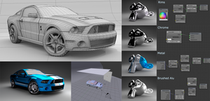Ford Mustang Shelby GT 500 - Parameters for Cycles by pierre-allard
