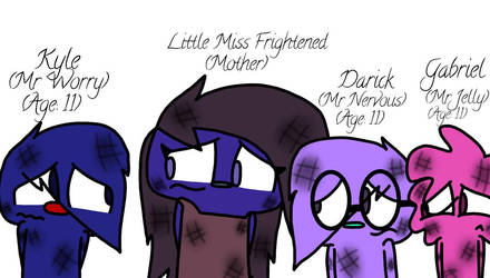 The Scaredy Trio's Family by DWTDandHTFfanXD