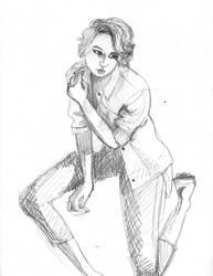 20151113 Kneeling Sketch by pommefritz