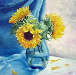 Vase with Flowers by sorinapostolescu