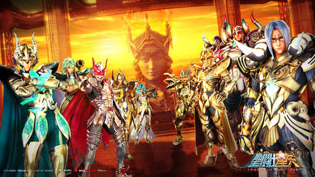 Saint Seiya Legend of Sanctuary Gold Wallpaper by SaintAldebaran