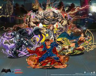 BatmanvSuperman X Puzzle And Dragons Wallpaper 2 By SaintAldebaran On DeviantArt