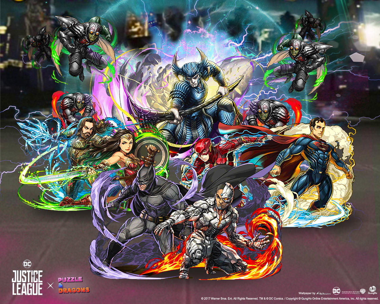 Justice League X Puzzle And Dragons Wallpaper By SaintAldebaran