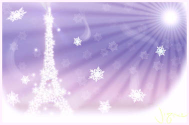 The Snow Eiffel Tower by Jiyone