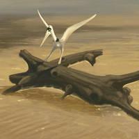 Pterodactylus kochi landing by jconway