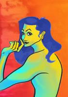 Portrait of a Found Model by IanCookeTapia