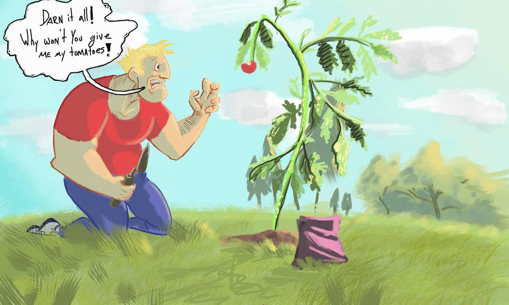 Bob is kind of bad at gardening by IanCookeTapia
