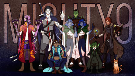 Critical Role - The Mighty 9 by Final-Fanart