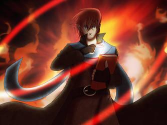 Critical Role - Caleb on Fire by Final-Fanart