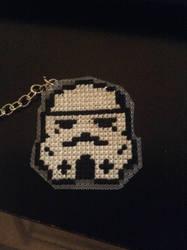 Stormtrooper Keychain by QuillArtist