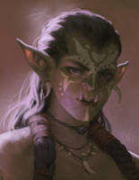 Lady Orc Portrait by Jaasif
