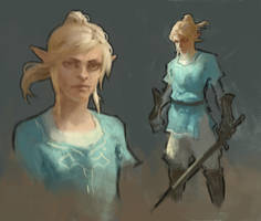 Link Sketch - Breath of the Wild by Jaasif