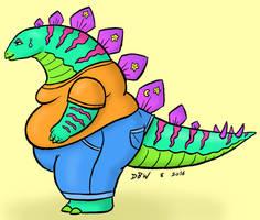 Dino Stegosaurus by poundforpoundcake