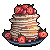 pancakes with strawberries by 6VCR