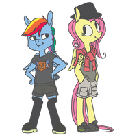 Rainbow Dash always dresses in style by spectralunicorn