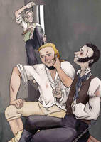 Jagiello, Jack and Stephen in prison by The-Arcadia-Relm