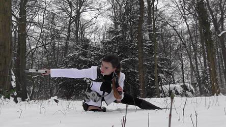 Tomb Raider Lara Croft Cosplay Underworld Snow by DayanaCroft