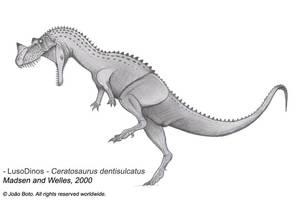 Ceratosaurus dentisulcatus by Sputatrix