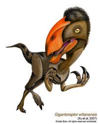 Gigantoraptor erlianensis V.2 by Sputatrix