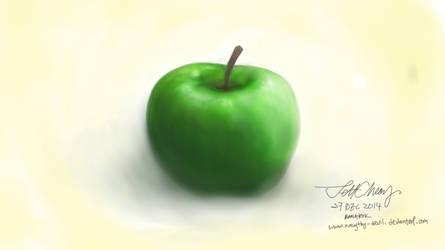 Apple - digital sketch by naugthy-devil