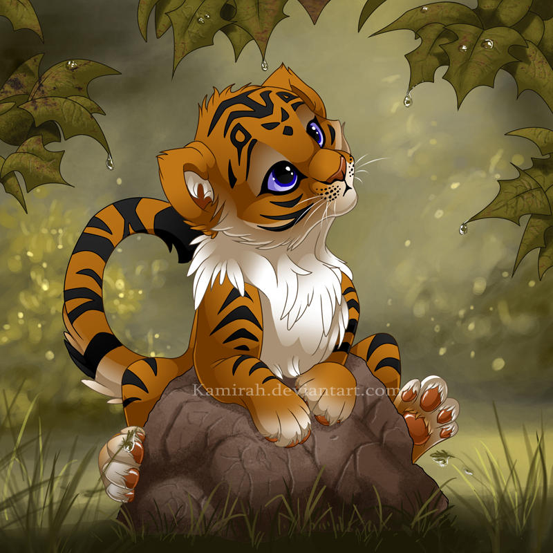 Tiger cub by Kamirah