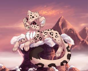 Snowleopard cub by Kamirah