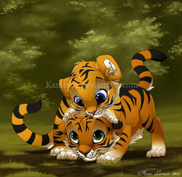 Tiger Friends by Kamirah