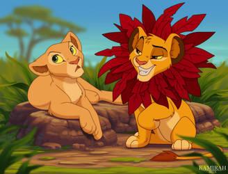 Simba and Nala by Kamirah