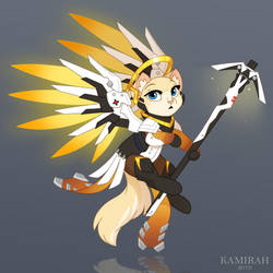 Overwatch Catified :: Mercy by Kamirah