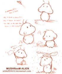 Mushroom Alien: sketch by zeldacw
