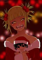 Christmas contest_Toga_Himiko by LadyBarbero