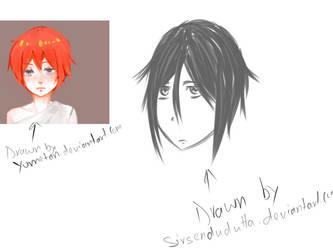 Drawing Yumetan's OC by SIRSENDUDUTTA
