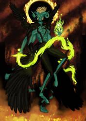 the cleansing flame: Archangel Uriel by Enemicarium