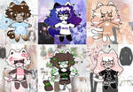 Moodboard inspired adopts [2/6 Open] by KuukieIsHere