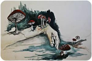 Mushroom Hand by neon999
