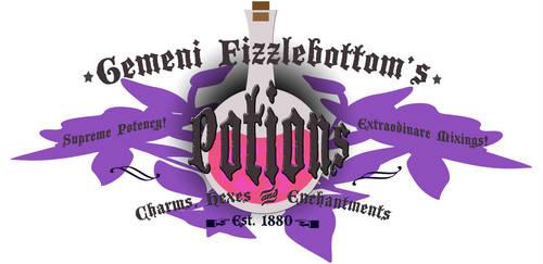 Gemeni Fizzlebottom's Potions Logo by DahliaOfFrivolity